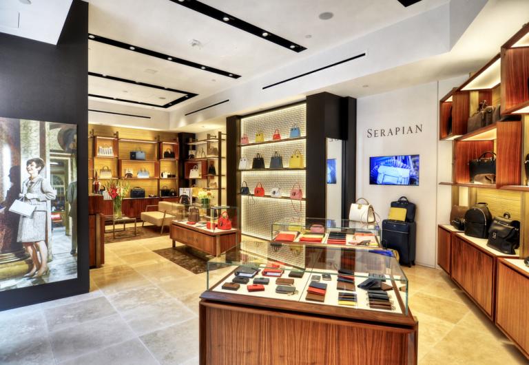 foto panoramica boutique Serapian Stati Uniti Beverly Hills