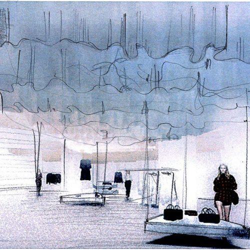 Foto disegno architetto eleonora pozzi mood progetto boutique